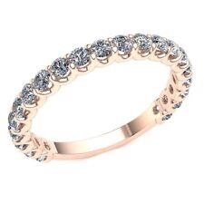 Genuine 0.95ct Round Diamond Ladies U-Prong Eternity With Sizing Bar 10k Gold