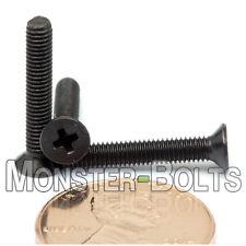 M3 x 20mm Phillips Flat Head Machine Screws, Steel w Black Ox Countersunk DIN965