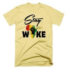 Blach History T-Shirt Malcolm X Angela Davis Black Panther Melanin Stay Woke Tee