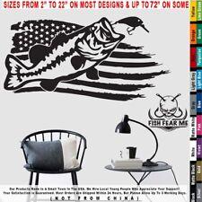 Fishing Bass USA Flag Lake boating lures Largemouth Decal Sticker