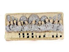 10k or 14k 2tone Gold Religious Last Supper 2 Finger Mens Ring