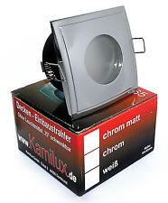 5Watt = 50W LED Feuchtraum Einbaustrahler IP65 Bad & Dusche 230V GU10 eckig A+