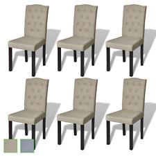 Lot de chaises salle à manger salon beige polyester avec les quantités au choix