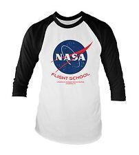 NASA Flight School Unisex Baseball T-Shirt All Sizes