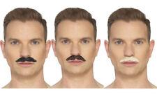 The Professional Moustache Mens Deluxe Fancy Dress Accessory 3 Colours