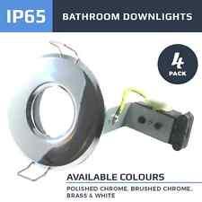 4 X BATHROOM SHOWER CEILING IP65 DOWNLIGHTS LED OR HALOGEN 240V MAINS GU10