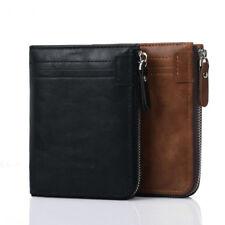 fashion men rfid blocking wallet zipper around bifold credit card holder purse