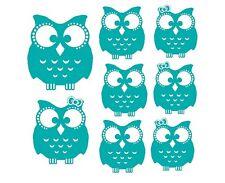 Cute Owl Family Vinyl Sticker girl boy mom dad wise wall window car truck room