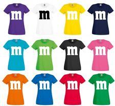 T Shirt Kostüm Verkleidung Karneval Fasching M&M JGA Fun Damen Partner Frauen