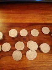 20p Coin twenty pence ( Royal Badge of England ) Tudor Rose circulated 1982-2008