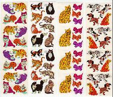 Vintage Hambly Glitter Sticker Strip- Cat Kitten Dog Puppy Scrapbook -You Choose