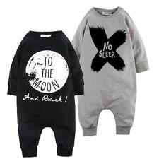 Kinder Jungen Mädchen Baby Langarm Strampler Romper Jumpsuit Bodysuit Kleidung