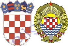 CROATIA coat of arms flags 2x stickers decals zastava