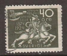 Sweden Sc 220 used 1924 40ö Post Rider, few short perfs