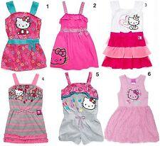 NEW Hello Kitty Girls Pink /Gray Printed Dress Size 3T/4/5/6/6x