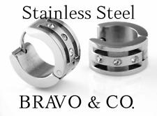7H-064 Genuine Surgical Stainless Steel Piercing Huggie Sleepers Hoop earrings