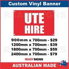 UTE HIRE - CUSTOM VINYL BANNER SIGN - Australian Made