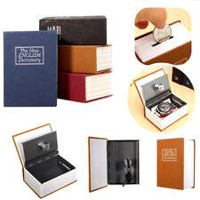 Mini Dictionary Stash Book Safe Box Secret Security Hide Lock Cash Money Coin UK