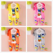 3pcs Toddler Baby Boys Girl Cartoon Outfit Hooded Coat+T shirt+Pants Clothes Set