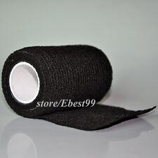 Elysaid Bandage Self-Adhesive Dress Hand Leg Wound  Bind Gauze Black 3''