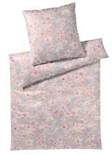 elegante Mako-Satin Bettwäsche Fairy Apricot Bio-Cotton Blumen exklusiv