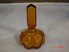 Vintage Amber Perfume Bottle Czechoslovakia Vanity Nice