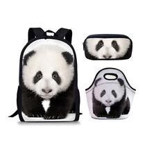 HOT Panda Print Student Backpack Ladies Lunch Handbag Kids Pencil Case Wholesale