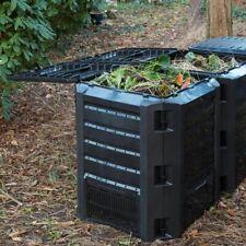 Nature Contenedor Negro Modelo Térmico para Compost con Capacidad de 400/1200 L