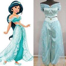 Adult Aladdin Princess Jasmine Cosplay Dress Halloween Costume Custom-Made