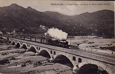 # VENTIMIGLIA: NUOVO PONTE CON TRENO IN ARRIVO DALLA FRANCIA 1917