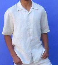 Beach Weddings Linen Shirt - Destination Outfit Groom - Off White Light Khaki