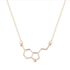 Serotonin Molecule Necklace Jewellery Chemistry Pendant Chain Women's Mens