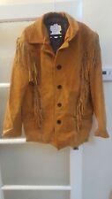 Men Western Wear Suede Veste en cuir Cowboy Style Fringe américain en cuir mant
