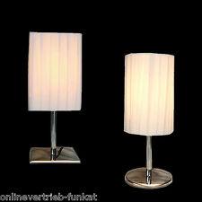 Kleine Tischlampe WEISS Tischleuchte Nachttischlampe Leselampe Art Deco Lampe