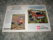 1972 YAMAHA AT2 125 ENDURO AD Original Cycle Trail Bike ( Lot of 2 ) Torgue Ind.