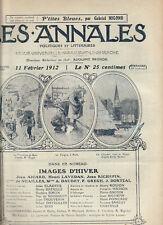 LES ANNALES POLITIQUES 1912 n° 1494 - Roujon - Masson -Bataille -Richepin
