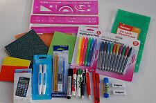 44 Pcs - Back To School - Secondary Set No 3 - Pens - Rulers - Calculator