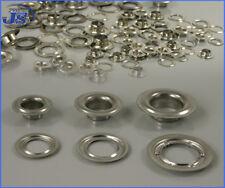 100x Ösen Messing Silber Vernickelt nach DIN 7332 LKW Plannen Rundösen