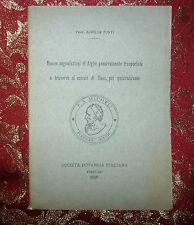 Libro 1928 Alghe Passivamente Trasportate  Traverso il Canale di Suez di A.Forti