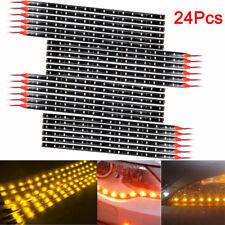 Amber Yellow 30CM 15 LED Car Motor Truck Flexible Strip Light Waterproof