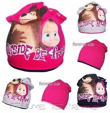 Nourrisson enfant fille chapeau masha et ours printemps coton chapeau reversible