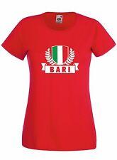 T-shirt Maglietta donna J1756 Stemma Città d'Italia Bari Ultras