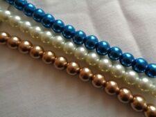 """Beads, Glass Pearls, 10mm, 7"""" strand, Darice"""