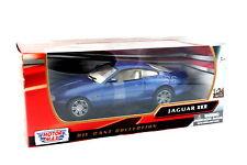 MotorMax Jaguar XKR Blue Diecast Car 1/24 New in Box