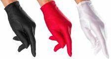 Sexy Satin Damen Handschuhe kurz Hochzeit Fasching Karneval schwarz rot weiss