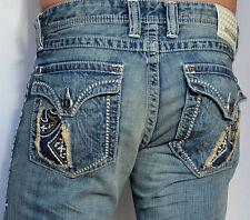 Affliction Men's Denim COOPER CUT OUT FLEUR FLAP Jeans  - 110BC035 - Tarnish
