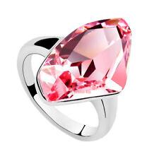 Anello Donna Cristallo Swarovski elements rosa 17# N11