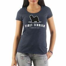 Frauen T-Shirt Tibet Terrier Dogs Rasse Hütehunde Treibhunde Molosser Begleithun