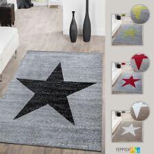 Designer Teppich Meliert Kurzflor Modern Stern Optik Verschiedene Farben