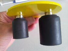 Gummipuffer mit Magnet ( HK = 5,1 kg ) 30Øx34 / 40Øx50  schwarz plus Kappe